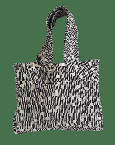 Cabas de ville toile de coton damier gris CVTCS0011
